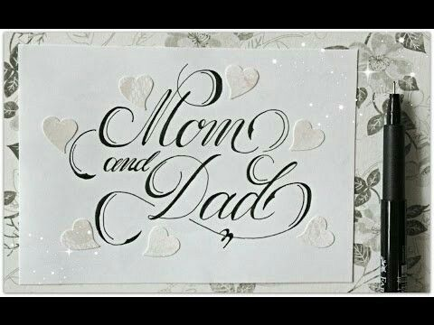 Happy Birthday Typography Cursive ~ Mom and dad handwriting pinterest handwriting