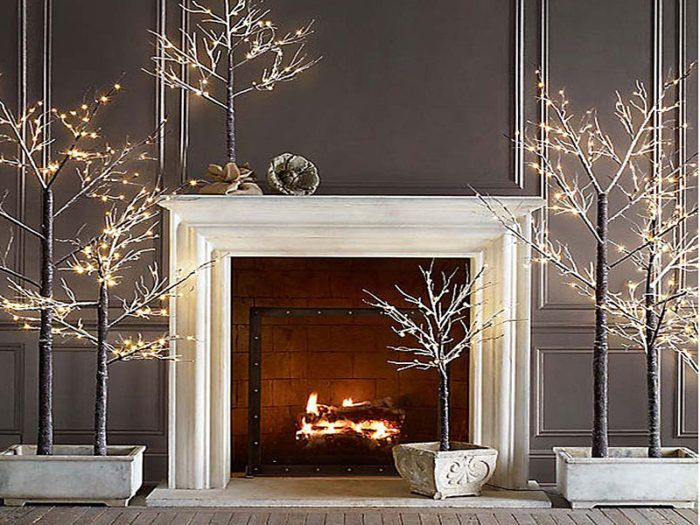 Christmas 2017 Tree Trends and Decorations Winter Pinterest - christmas fireplace decor
