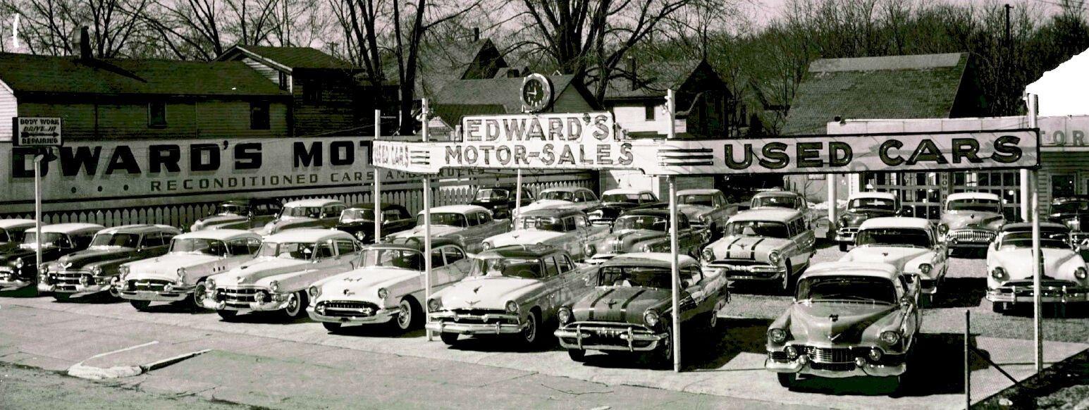 1959 Used car Lot Edwards Motors Dealership, Automobile