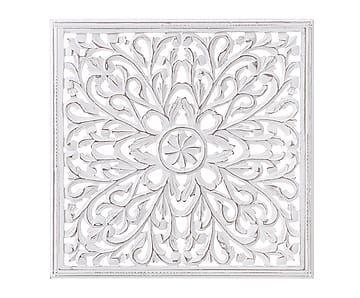 panel decorativo de madera dm blanco x cm