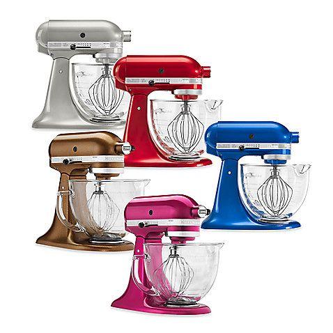 Kitchenaid Classic Glass Bowl kitchenaid® 5 qt. artisan® design series stand mixer with glass