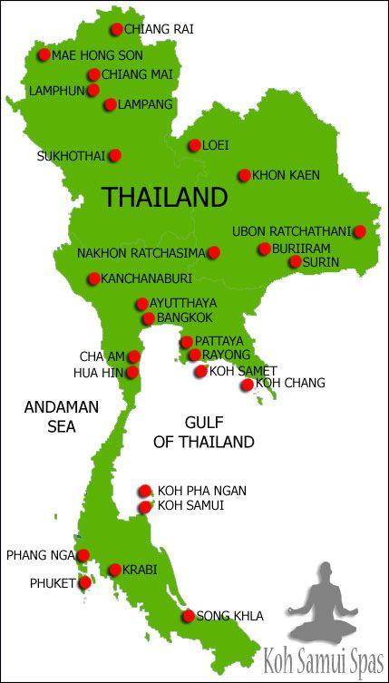 Kort Over Thailand Photo