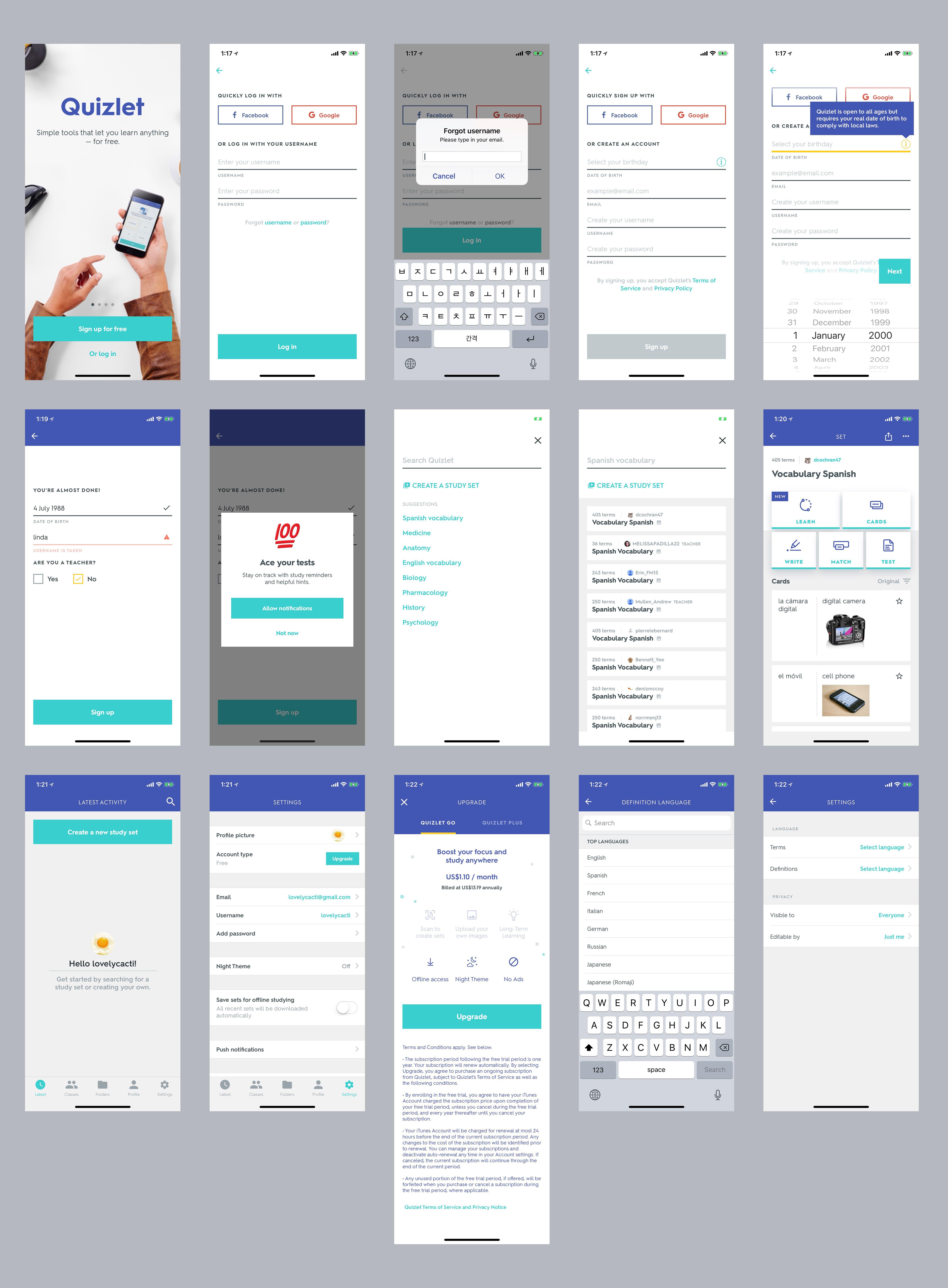 Quizlet iOS App
