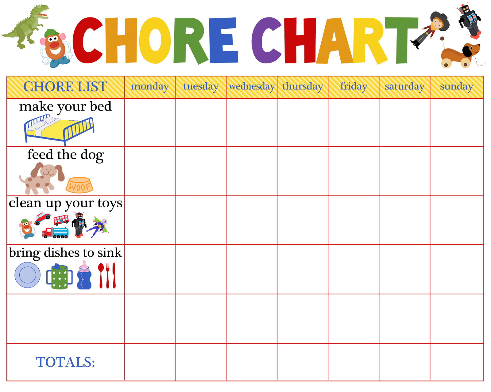 LiveLifeLovely A Practical Solution to House Cleaning for Moms – Kids Behavior Chart Template