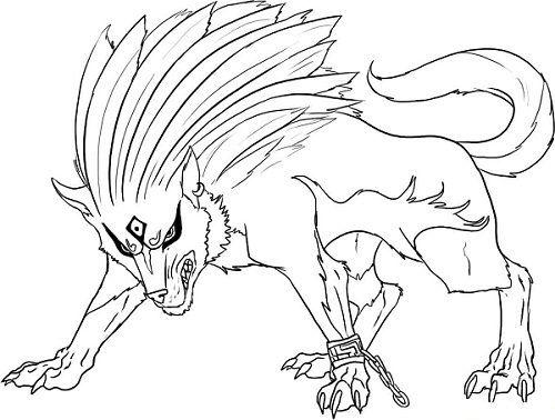 anime wolf coloring pages mit bildern  kostenlose