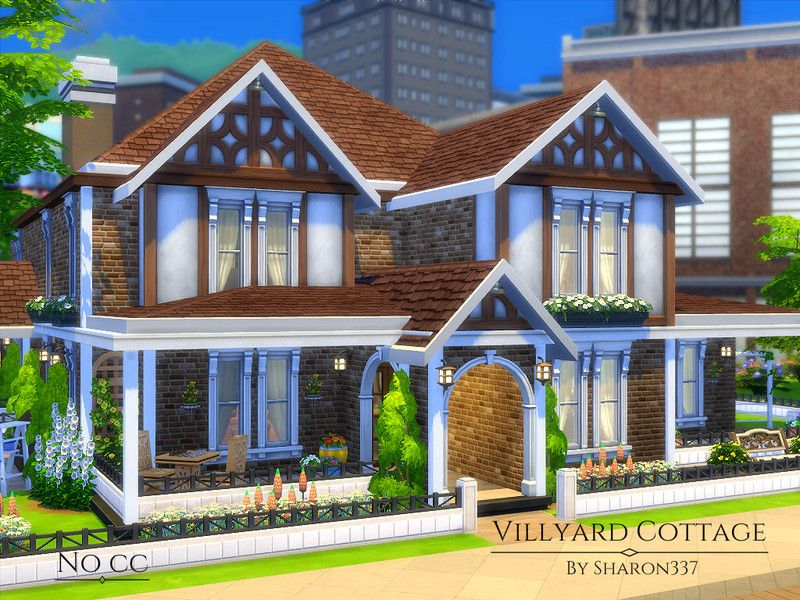 Villyard cottage is  family home built on  lot in san myshuno the old salt house found tsr category  sims residential lots also rh co pinterest