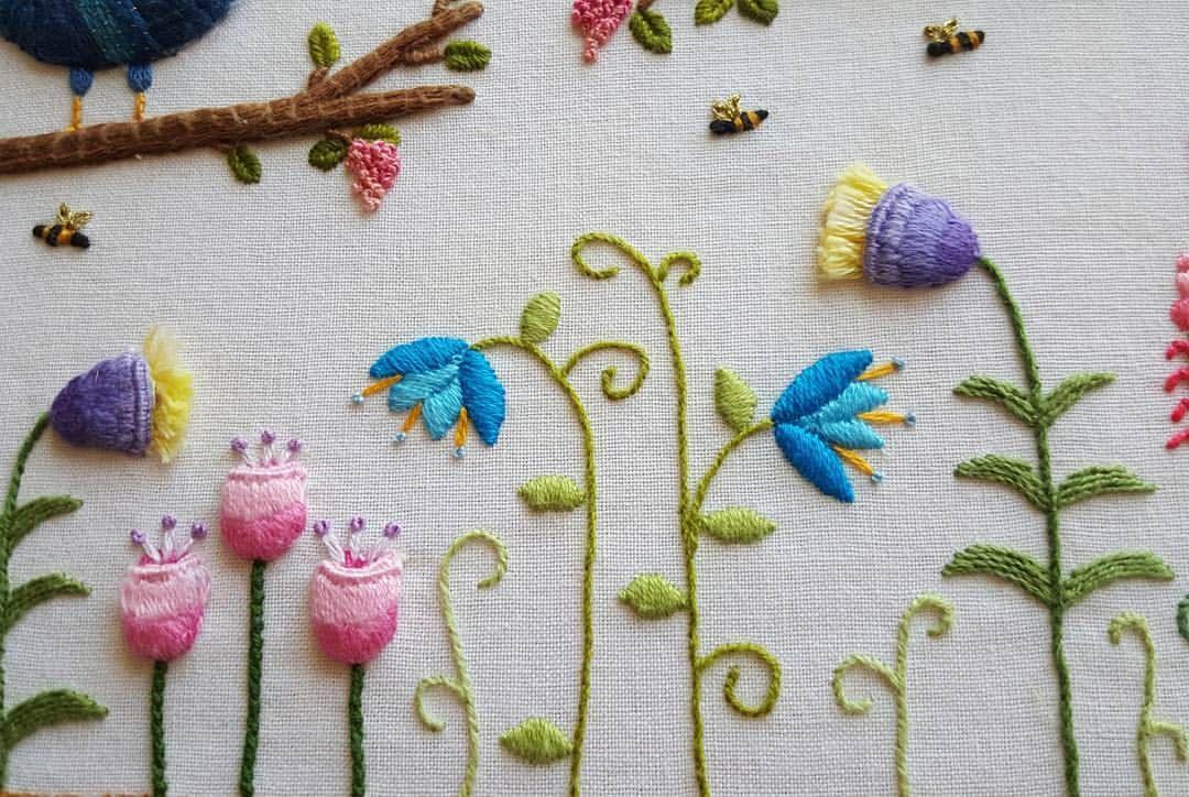 Embroidery closeup #embroidery #stitching #stumpwork #needlework ...
