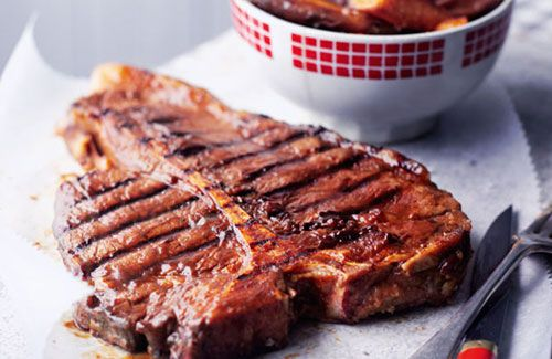 All American Steak With Sweet Potato Chips Recipe Sweet Potato Chips Recipe Sweet Potato Chips Bbq Recipes Beef