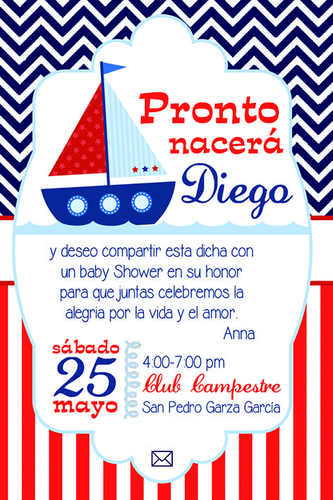 Baby Sailor Marinerito Baby Shower Boy Baby Shower Ideas Baby Shower Invitaciones