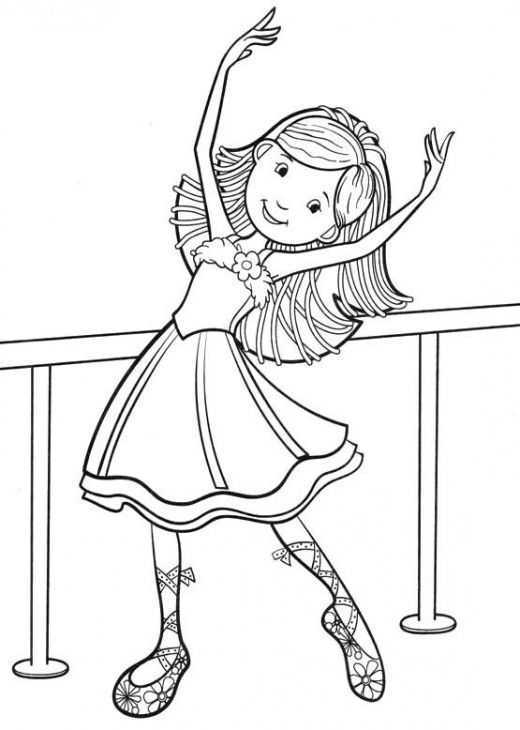Little ballet dancer smiling coloring page | Fun Coloring Pages ...