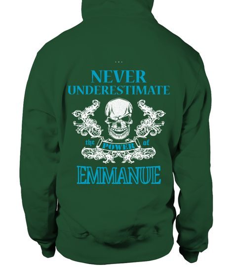 # EMMANUEL NEVER UNDERESTIMATE .  EMMANUEL NEVER UNDERESTIMATE  A GIFT FOR THE SPECIAL PERSON  It's a unique tshirt, with a special name!   HOW TO ORDER:  1. Select the style and color you want:  2. Click Reserve it now  3. Select size and quantity  4. Enter shipping and billing information  5. Done! Simple as that!  TIPS: Buy 2 or more to save shipping cost!   This is printable if you purchase only one piece. so dont worry, you will get yours.   Guaranteed safe and secure checkout via…