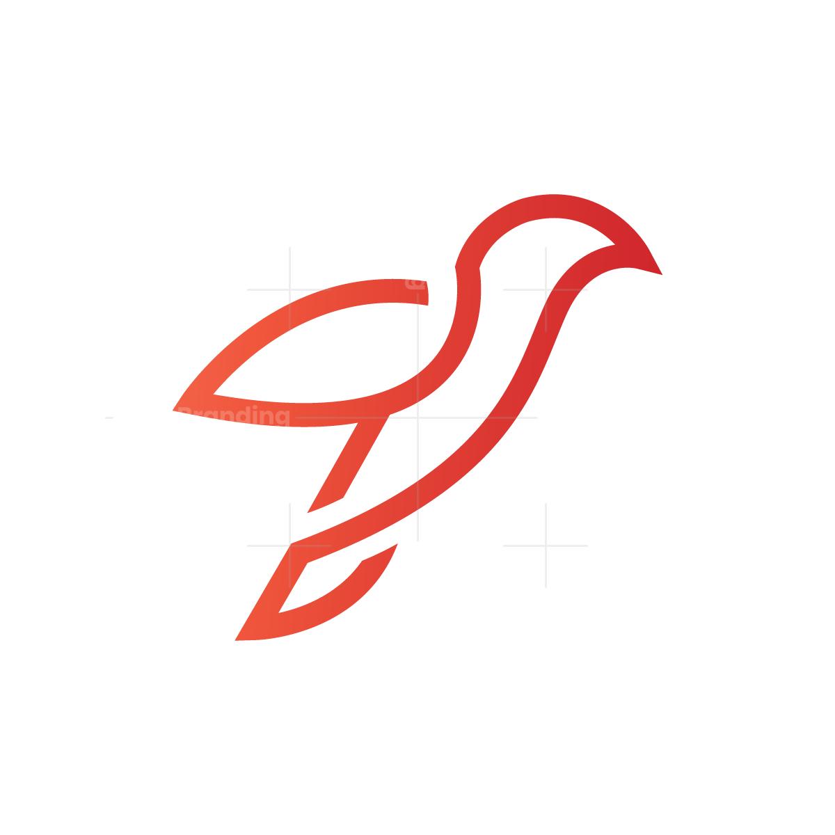 Line Bird Logo Bird Logos Bird Logo Design Simple Logo