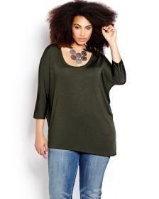 0f2ebf30b3b Shop fashionable plus size clothing, sizes. Michel Studio 3/4 Sleeve  Pullover