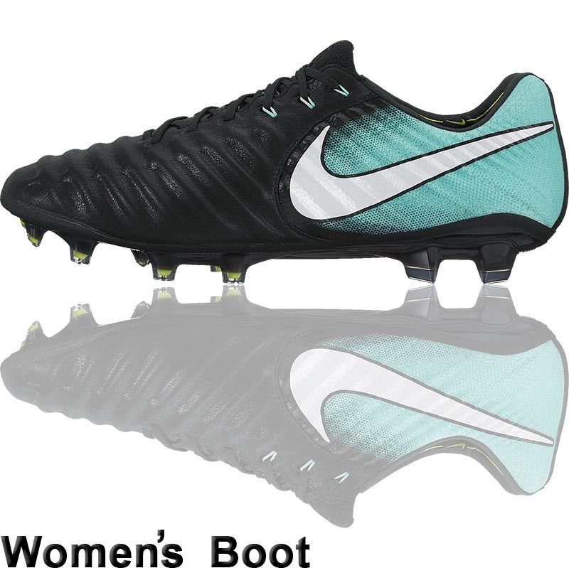 Football Nation - Nike Tiempo Legend VII Women\u0027s Boots (FG - Black/Aqua)