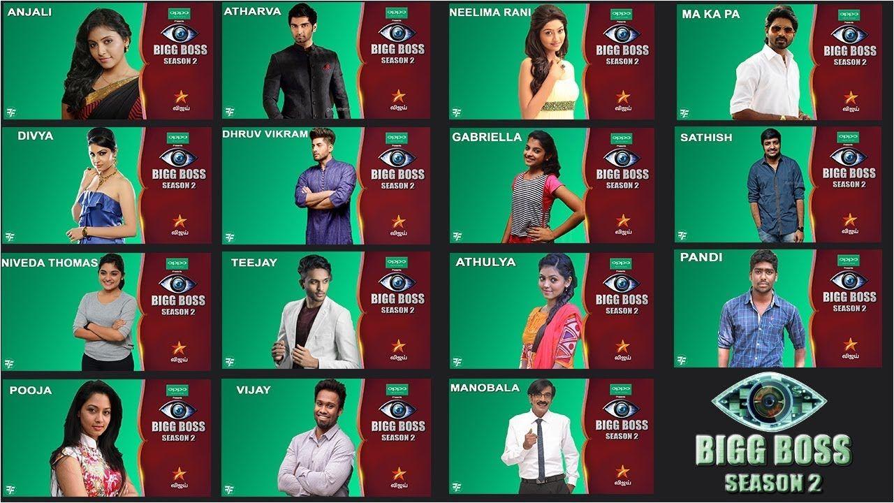 BIGG BOSS Tamil Season 2 - Official Contestants Name list