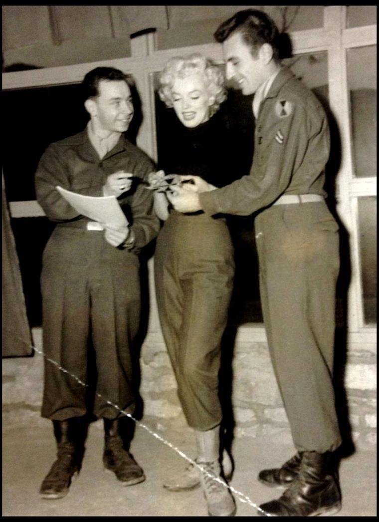 57b811f803b0bc 1954   COULEUR SEPIA   63 ans plus tard, des photos jaunies de Marilyn lors  de son séjour en Corée resurgissent du passé pour notre plus grand bonheur  (nous ...