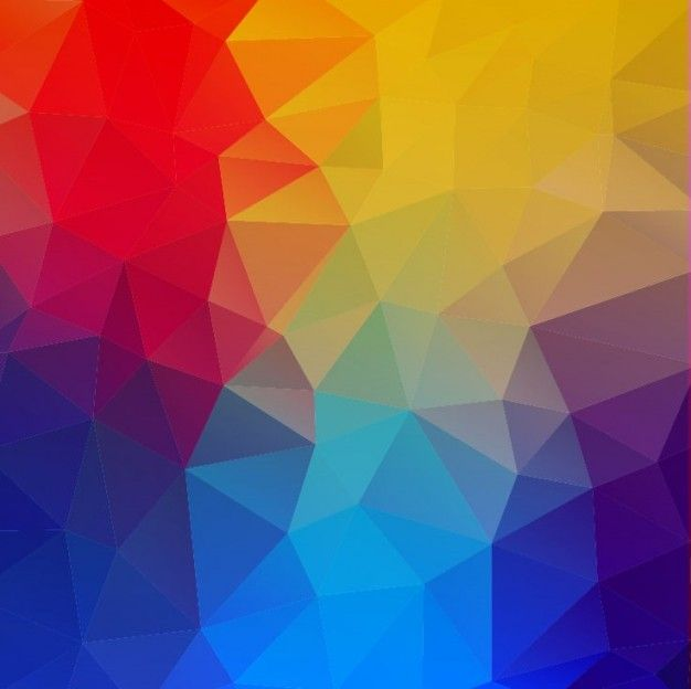 Can I Put Wallpaper On Top Of Wallpaper: Colorful Geometric Shapes Abstract Background Free Vector
