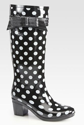 bf444ff655b0 ... Kate Spade brand clothing   accessories on Lyst. High heel polka dot  rain boots
