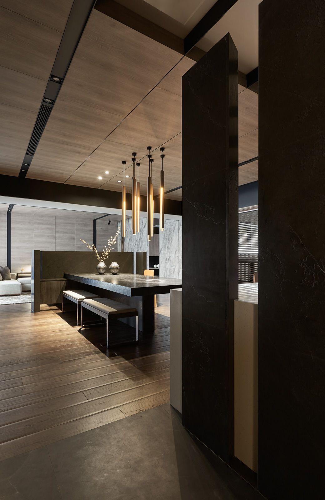 Oneworkdesign Flow迴留 Flow 材料的感受本案為住宅空間 利用延伸