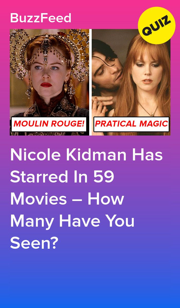 Nicole Kidman Has Starred In 59 Movies How Many Have You