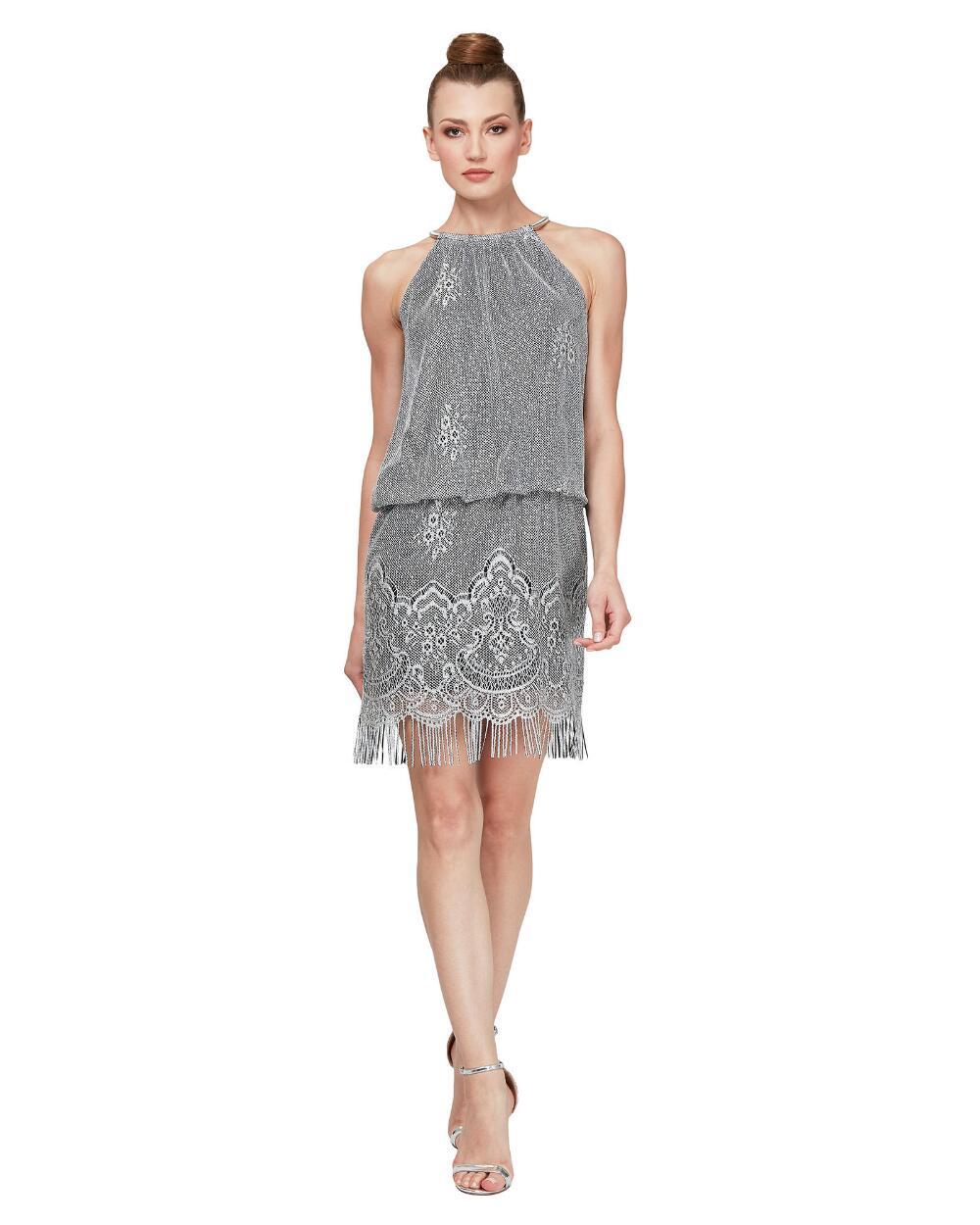 Blouson Glitter Crochet Mini Dress Stein Mart Necklines For Dresses Dresses Crochet Mini Dress [ 1250 x 1000 Pixel ]