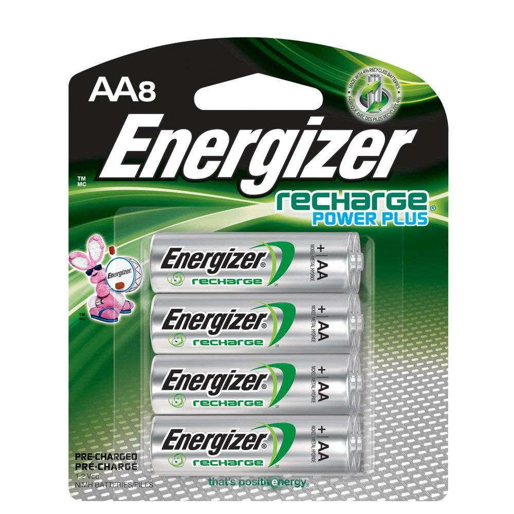 Energizer Rechargeable Aa Batteries Nimh 2300 Mah Pre Charged 8 Count Recharge Power Plus Batteries Rechargeable Batteries Energizer Battery Energizer
