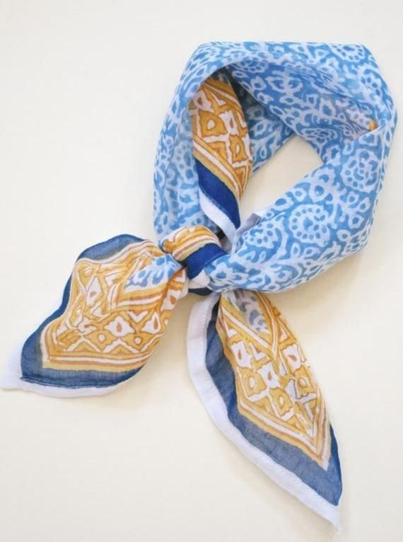 Vibrant and intricately stunning, this boho chic bandana is the true essence of your travels. Whether you choose to wear it around your neck, hair or even belt loop, this bandana is sure to spice up your style all year long. 22