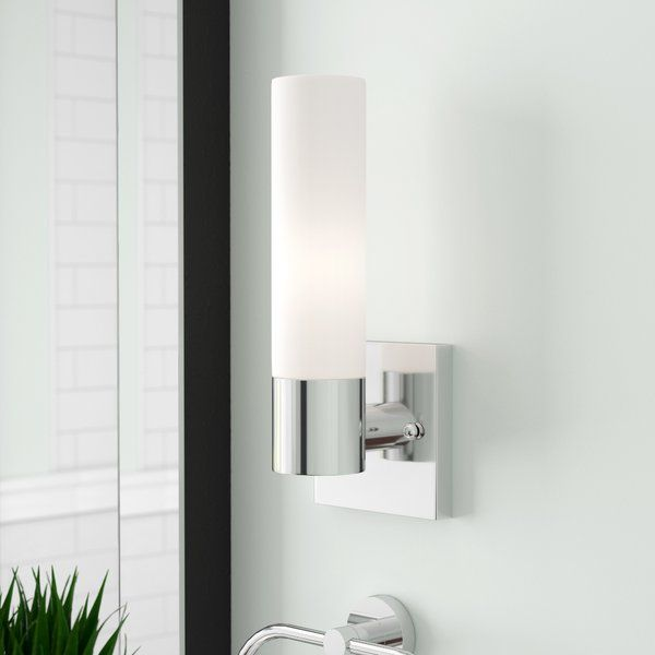 Kneeland 1 light drum cylinder shade bath sconce youll love