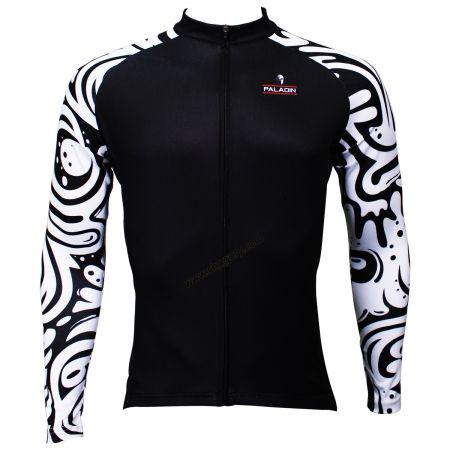 3abf6e22a Wave Patter Sleeves Black Cycling Jerseys Long Sleeve Men s Bike Jersey  image 1