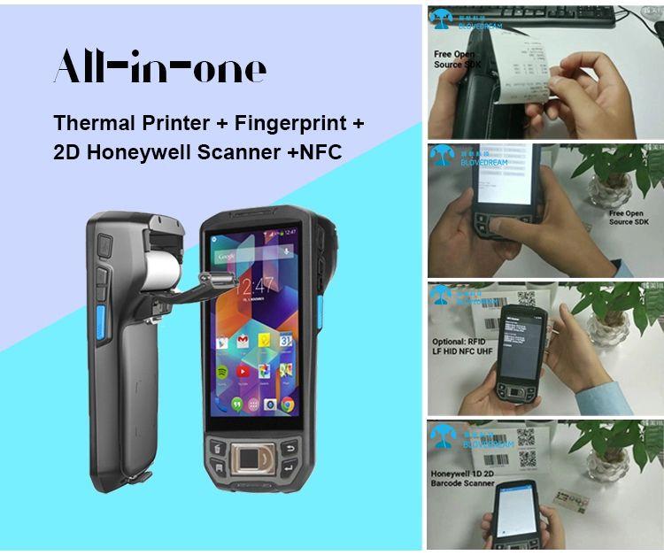 Blovedream U9100 Rugged 4g Lte Barcode Scanner Fingerprint Android Handheld Pda Touch Tablet Barcode Scanner Scanner
