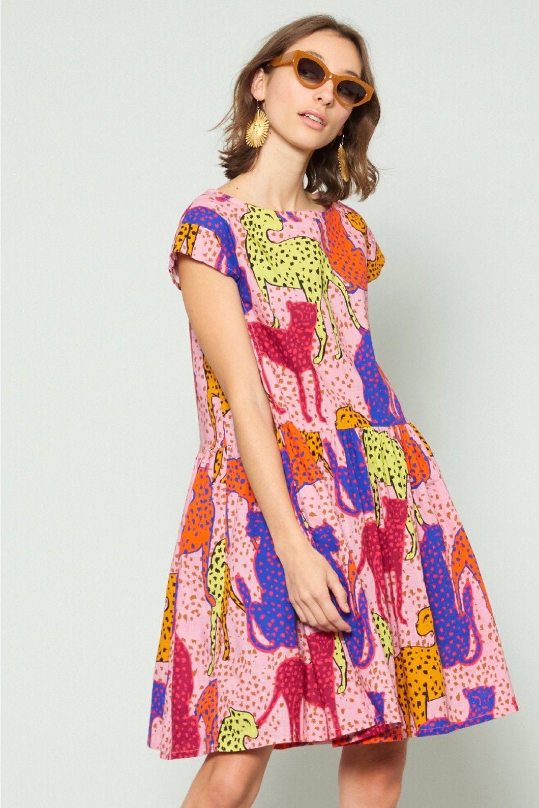 Gorman Online Cheetah Beach Dress Dresses Clothing Shop Clothes For Women Colorful Fashion Dresses [ 1590 x 1060 Pixel ]