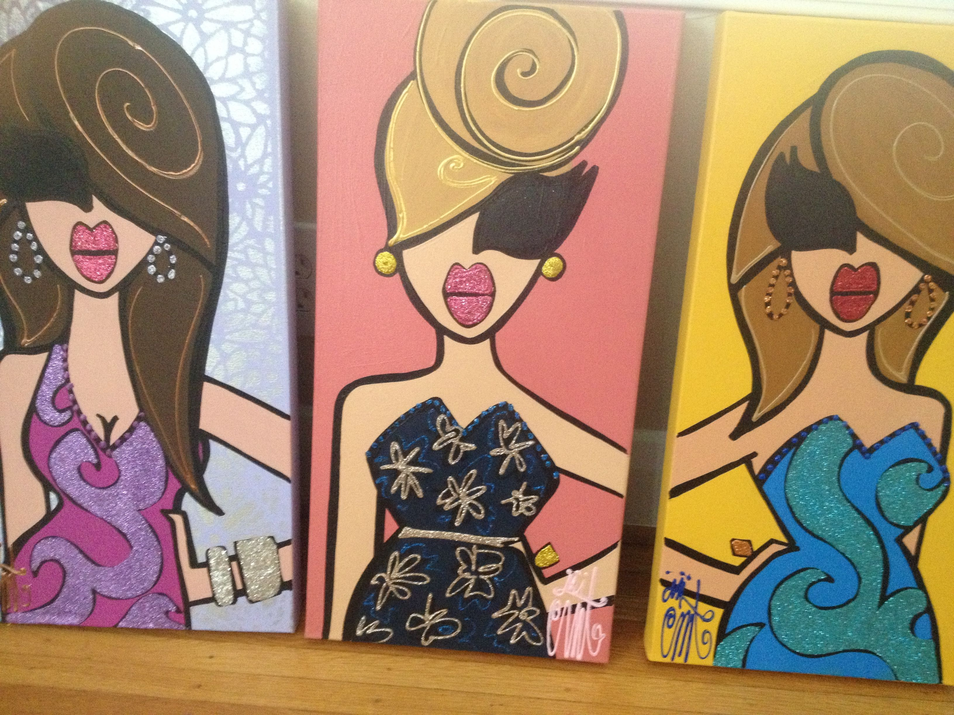 Bridesmaid Gifts Paintings By Twiggy Originals Twiggy Bridal