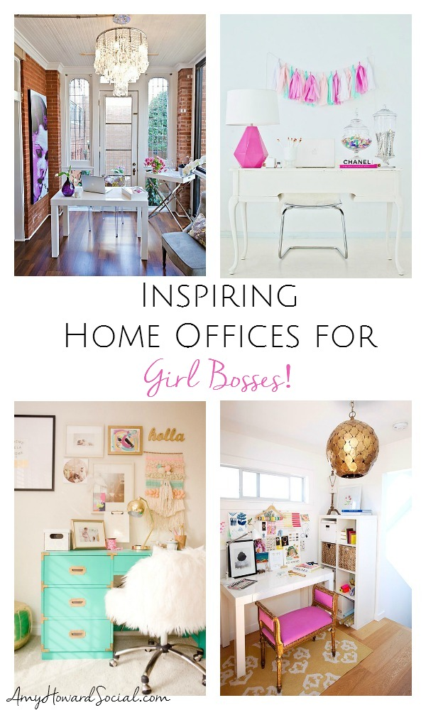 Inspiring home offices for girl bosses pinterest for Decoracion oficina creativa