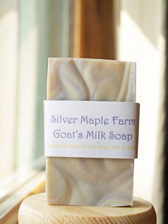 Moondrop Scent Goat's Milk Soap, Calming Lavender Chamomile Fragrance 127 g. Cold Process