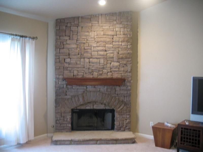 indoor stack stone fireplace provided by jackpot construction rh pinterest co uk
