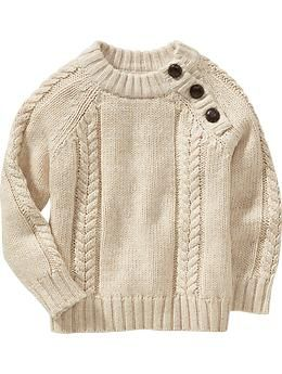 Cable Knit Shoulder Button Sweaters For Baby Old Navy Bryant