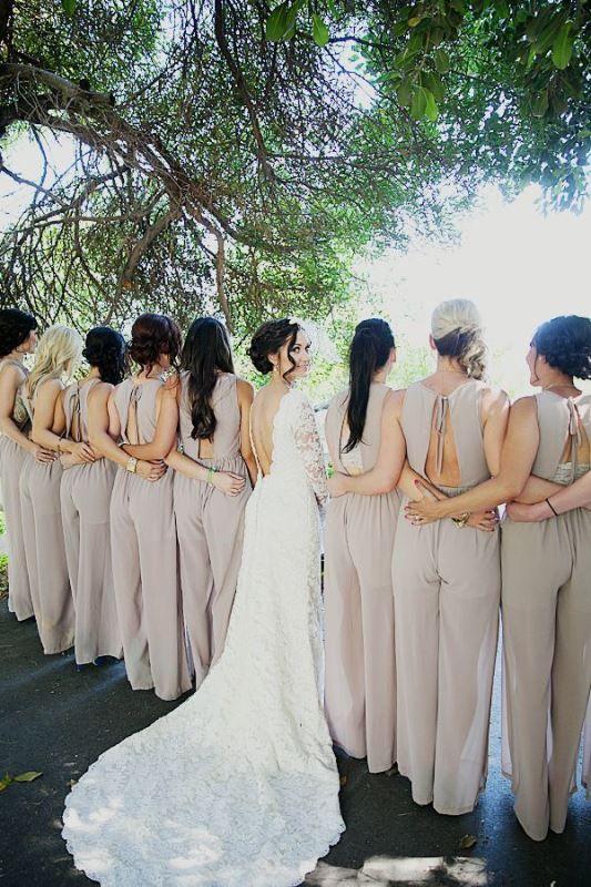e00691f488 The Hottest Wedding Trend  25 Stylish Bridesmaids Jumpsuits - Weddingomania