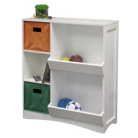 Riverridge Kids Storage Cabinet W 2 Veggie Bins White