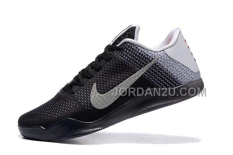 2016 Nike Kobe 11 XI Elite Low Mens Basketball Shoes White/Court Purple/Black Sneakers 822675-105