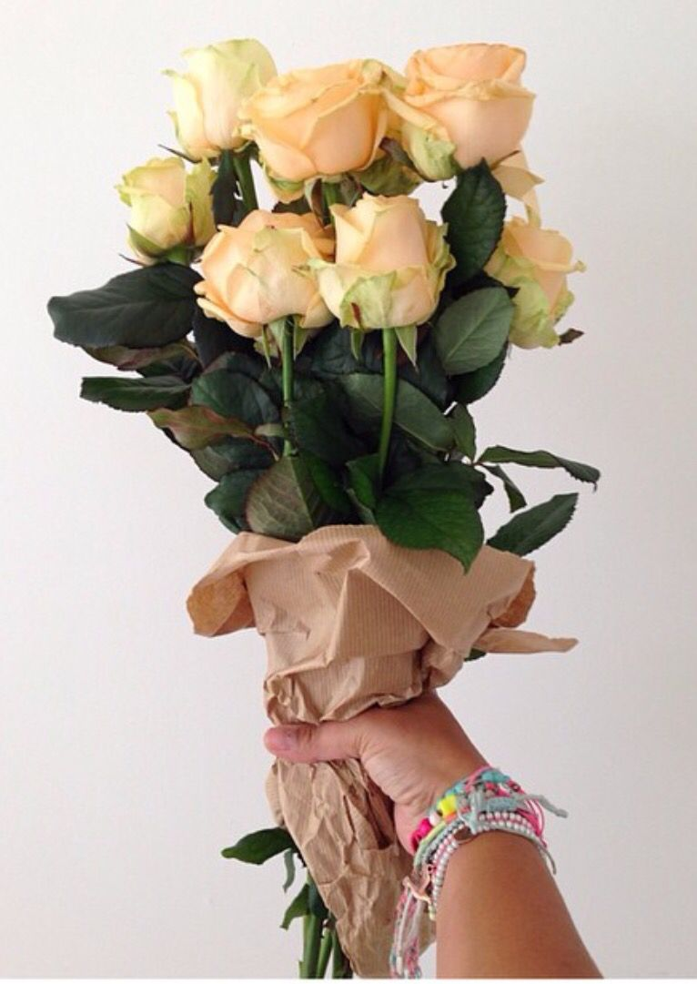 I Love Simple Roses Wrapped In Brown Paper Allison Sadlers