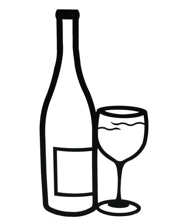 Drawn Glasses Wine Bottle 3 Wine Glass Drawing Mug Drawing