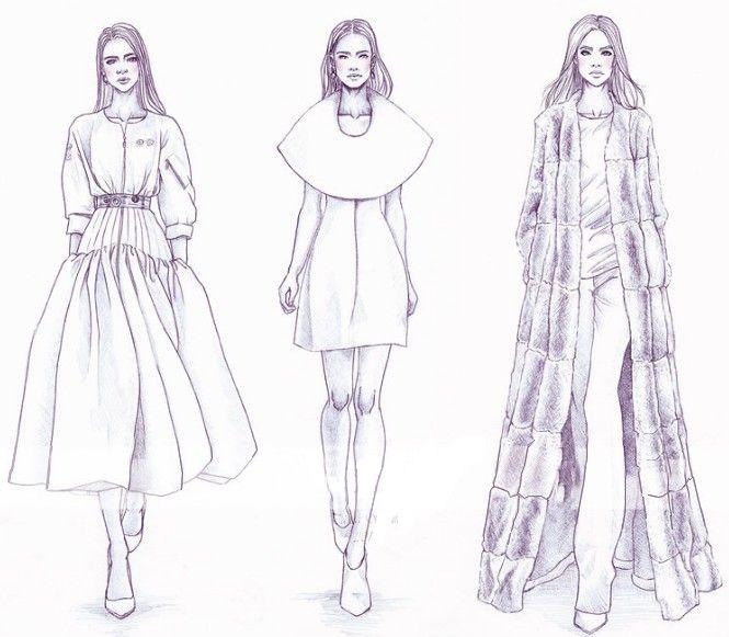 Christian Dior Com Imagens Christian Dior Couture Croquis De