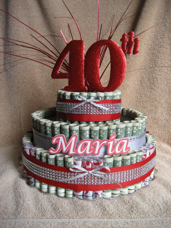 MONEY CAKE 40TH Birthday or Anniversary by CreativeCreationsMC DIY