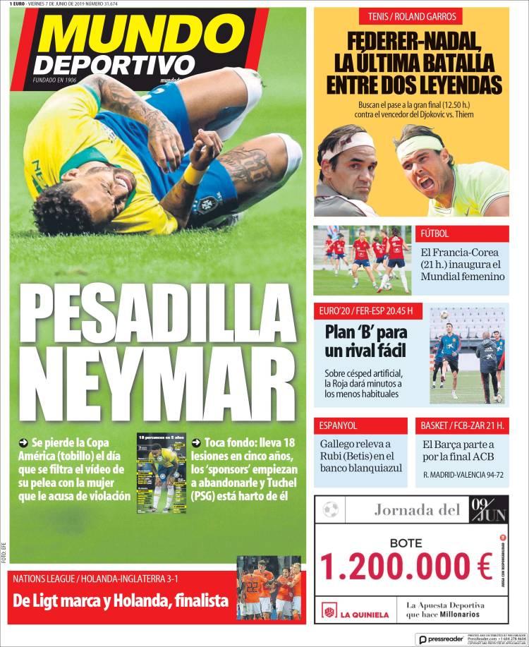 20190607 Periódico El Mundo Deportivo (España