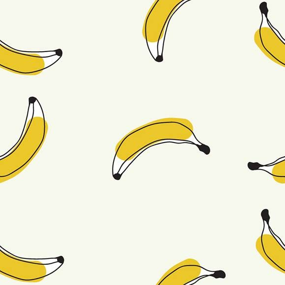 Modern banana seamless pattern. Flat and minimalist vector background. #illustration #texture #graphic #design #art #vectorpatterns #seamlesspattern #patterndesign
