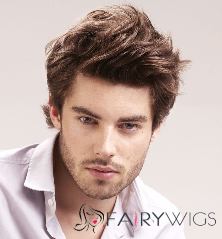 6 Inch Brown Full Lace 100 Indian Remy Hair Mens Wigs Medium Hair Styles Mens Hairstyles Medium Medium Length Hair Styles