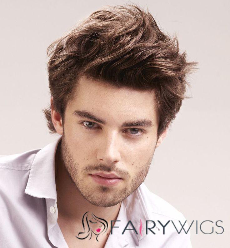 Brown hair wig guy