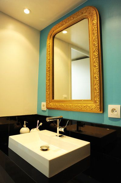 1000 images about wall on pinterest blue walls teal bathrooms and atelier - Salle De Bain Jaune Et Turquoise