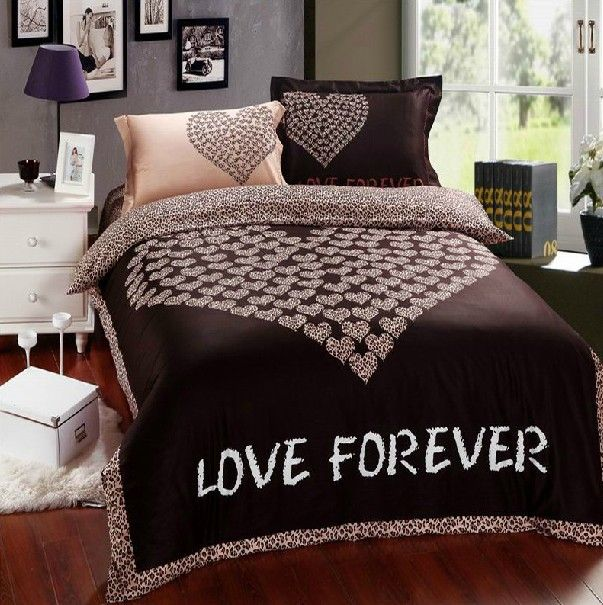 S V Creative Love 3d Bedding Sets 100 Cotton Bed Sheet Fashion
