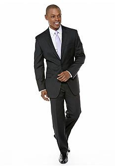 Calvin Klein Slim Fit Black Pinstripe Suit | Calvin klein, Suits ...